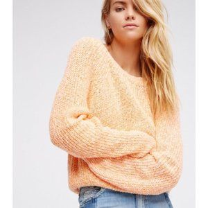 Free People electric city pullover in tangerine 🍊